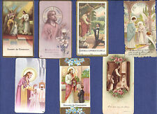 SET of 7 Vintage HOLY CARDs: JESUS Communion wafer ANGELS Flowers CHALICE Lot
