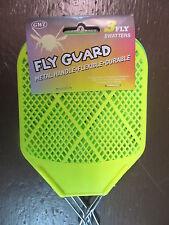 Metal Flyswatters.  Flyguard Package of 3 flyswatters.  Metal Handles.  NEW
