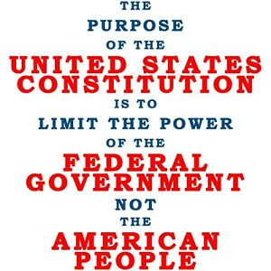 Conservative THE PURPOSE OF THE CONSTITUTION LIMIT GOVERNMENT Political Shirt
