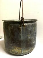 Antique Brass Bucket Large