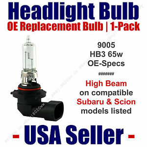 Headlight Bulb High Beam OE Replacement Fits Listed Subaru & Scion Models - 9005