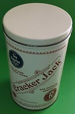 "Cracker Jack Collectible Tin Can 1980 Replica of 1900 Box 8 1/4"" Tall 5 1/4"" D"