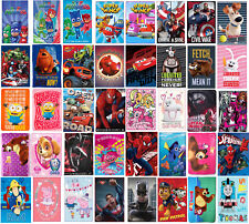 Cartoon Characters Children Soft Fleece Blanket Boys Girls Paw Patrol PJ Mask
