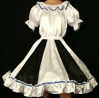 """BLACK & WHITE SQUARE DANCE DRESS  BLOUSE SKIRT SIZE MEDIUM WAIST 30""""-37"""""""