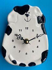 Black & White Dog - Wall Clock
