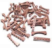 Lego 50 Reddish Brown Bricks Arches 1 x 6 Raised Arch Castle Pieces