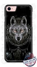 Wolf Dream Catcher B&W Phone Case for iPhone X 8 PLUS Samsung Google LG etc