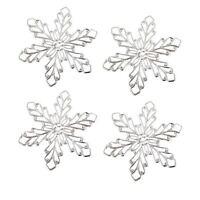 CraftbuddyUS 10pcx 2.75inch Decorative Metal Filigree Snowflakes StickOn Toppers