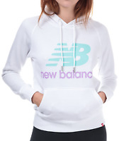 New Balance Womens Essentials Pullover Hoody White/Aqua Ladies Size UK 10*REF151