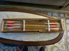 12 Micro-Flite  #7 Arrows W/Bear Broadheads-7 Bleeders