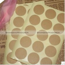120pcs Round Blank Stickers Kraft Paper Label Envelope Seals Food Label S2