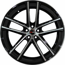 Set of 4 GWG Wheels 18 inch Black Machined ZERO 18x8 Rims 5x110 ET40 CB74.1