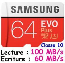 2x Samsung 32Go EVO plus 80Mo s MicroSD SDHC UHS-I Class 10 Memory Card Adp