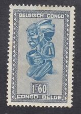 Belgian Congo 1950 - 1F 60c Blue and Grey - SG282b - Mint Hinged (E32F)