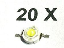 3 Watt Highpower  LED, 3 Watt, 350-600mA, Kaltweiß, 6300K, 170-190lm,  20 Stück