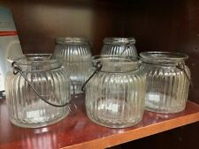 NEW Pottery Barn Vintage Glass Jar Hanging Lantern Tea Light Holder Rustic Sm Lg