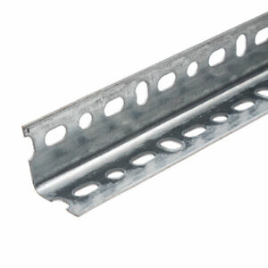 Galvanised Dexion Type Slotted Shelving Angle  1.5m x 38mm x 38mm x 2mm