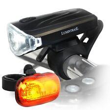 Lumintrail Bike Headlight Tail Light Weatherproof Lights Set Quick Release Mount