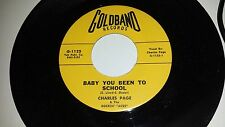CHARLES PAGE Baby You Been To School / Searching For GOLDBAND 1125 ROCKABILLY 45