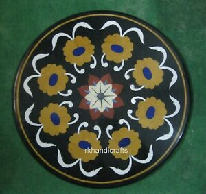 24 Inches Marble Center Table Top with Peitra Dura Art Coffee Table Home Decor