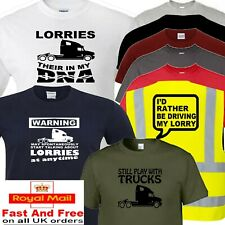 lorry trucker t shirt dna warning rather designs