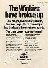 Winkies The Brian Eno Bogarts, Birmingham MM4 LP/Tour Advert 1974