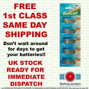 10X AG13, 357, SR44W, SR44, SR1154, SB-B9 1.5v Battery FREE 1st class post