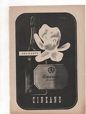 Pubblicità vintage CINZANO SPUMANTE VINO WINE ITALY old advert werbung publicitè