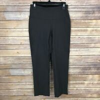 Up Techno Tummy Slimming Pull On Pants Capri Slim Leg Gray Womens Size 6