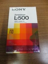 Lot of 12 New Sony Beta Dynamicron L-500 Betamax Tapes, Video Cassette, Blank