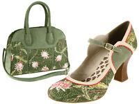 Ruby Shoo Rosalind Ladies Louis Heel Mary Janes Shoes - Add Matching Bag Cancun
