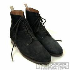 RAG & BONE Spencer Solid Black Suede Leather Mens Shoes Boots - EU 45 / US 12