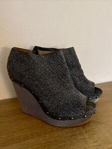 NWOB Calvin Klein Platform Denim Studded Sandal (denim) sz. 8.5