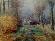 HENRI SEGHERS (1848-1919) 'Sunny Lane with Farm' ca 1900 - BELGIAN IMPRESSIONISM