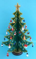 Vintage SALCO Wooden Christmas Tree with Ornaments Decoration ~ unused / boxed ~