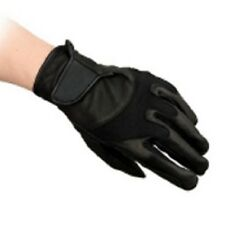 Genuine Shires kingham leather horse riding gloves black size XL ex large BNWT
