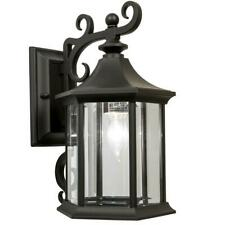 Newport Crest Mansfield 1-Light Black Outdoor Wall Lantern Sconce