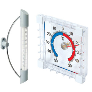 INDOOR/OUTDOOR (STICK-ON / SWING) THERMOMETER.( -50° to +50°C ),READ DESCRIPTION