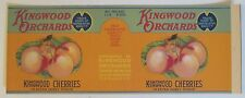 KINGWOOD ORCHARDS Royal Ann Cherries Old Can Label Salem OR., Schmidt Litho. Co.