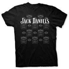 NWT GENUINE JACK DANIELS ELY & WALKER BLACK ALL OVER OLD NO.7 TEE T-SHIRT MD M