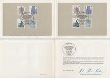 Ministerkarte 6.11.87 Sehenswürdigkeiten (MiNr.Bund 1339-42 + Berlin 793-96)