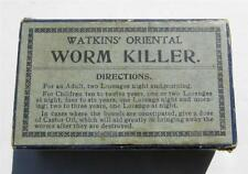 Old Antique Medicine Box WATKINS' ORIENTAL WORM KILLER