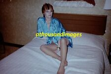 1980 35mm Negative/Sexy Redhead Woman Posing Sitting On Bed  /amatuer T7