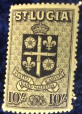 St Lucia 10/- Black & Yellow Definitive 1938 SG 138 MNH Cat. value £18 in 2016