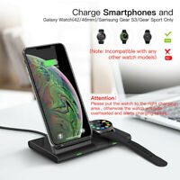 Qi Wireless Charger Charging Stand Dock For Samsung Galaxy S10/S10+ S9 Lot