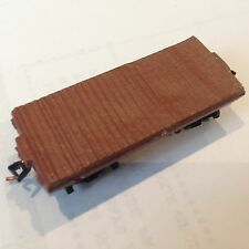 ULRICH N SCALE OLD TIME FLAT CAR WITH MICRO-TRAINS BETTENDORF TRUCKS