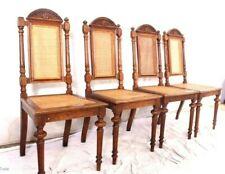 *** 4 Gründerzeit Hochlenstühle Salonstühle Müschelstühle Schnitzereien Geflecht