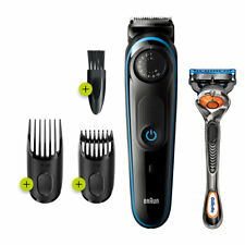 Braun BT3240 Rechargeable Beard Trimmer with Precision Wheel, 6-Pieces Set