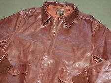 US Army AAF WW2 EASTMAN PILOT A-2 SEAL BROWN HORSEHIDE LEATHER FLIGHT JACKET 44
