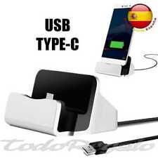 Cargador Base de carga SYNC DOCK conector USB tipo/type C gris para Samsung LG